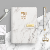 you deserve the best Marble filofax Book PU Notebook Plan Agenda School Supplies Diary Journal Travelers Notebook Planner A6