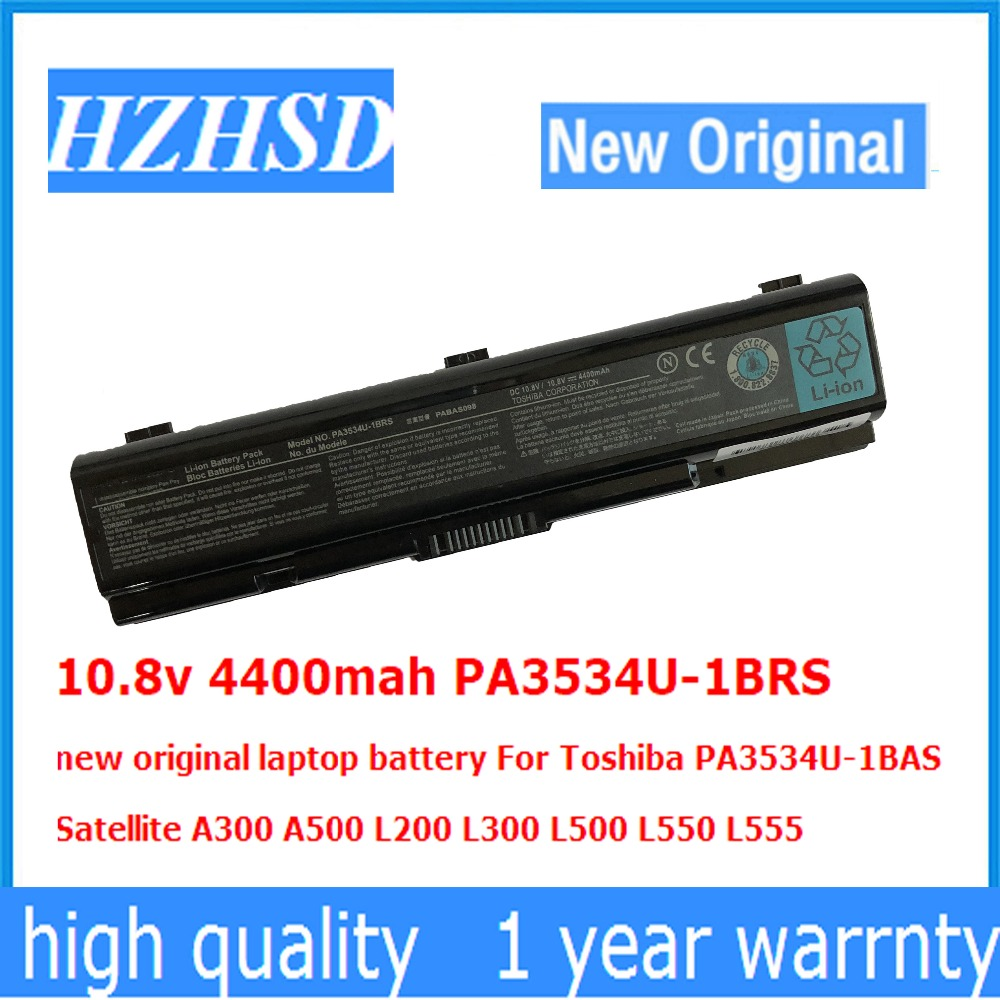 10.8v 4400mah PA3534U-1BRS new original laptop battery For Toshiba PA3534U-1BAS Satellite A300 A500 L200 L300 L500 L550 L555 цена