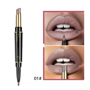 Pudaier Matte Lipstick Wateproof Double Ended Long Lasting Lipsticks Brand Lip Makeup Cosmetics Nude Dark Red Lips Liner Pencil 4
