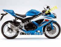 Hot Sales,White Blue For SUZUKI fairings GSXR 600 750 2008 2009 2010 K8 GSXR600 GSXR750 08 09 10 Fairing (Injection molding)