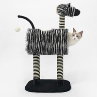 Height 90 cm cat scratcher Climbing Scratching Frame with Hanging Ball for Kittens Cat Tree Pet tower house HW102