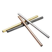 Metal Straw Stainless Steel Straw Reusable Drinking Straw Diameter 12mm Titanium Polychromatic Mixing Tube Party Bar Accessories