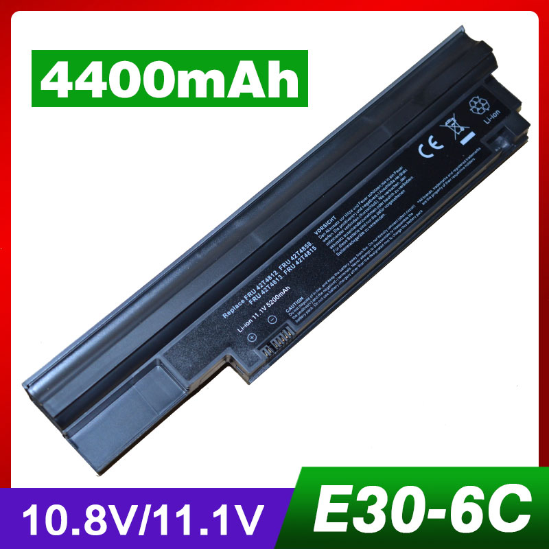 6 Cells Laptop Battery For Lenovo ThinkPad Edge 13 E30 E31 42T4806 42T4807 42T4812 42T4813 42T4814 42T4815 57Y4564 57Y4565