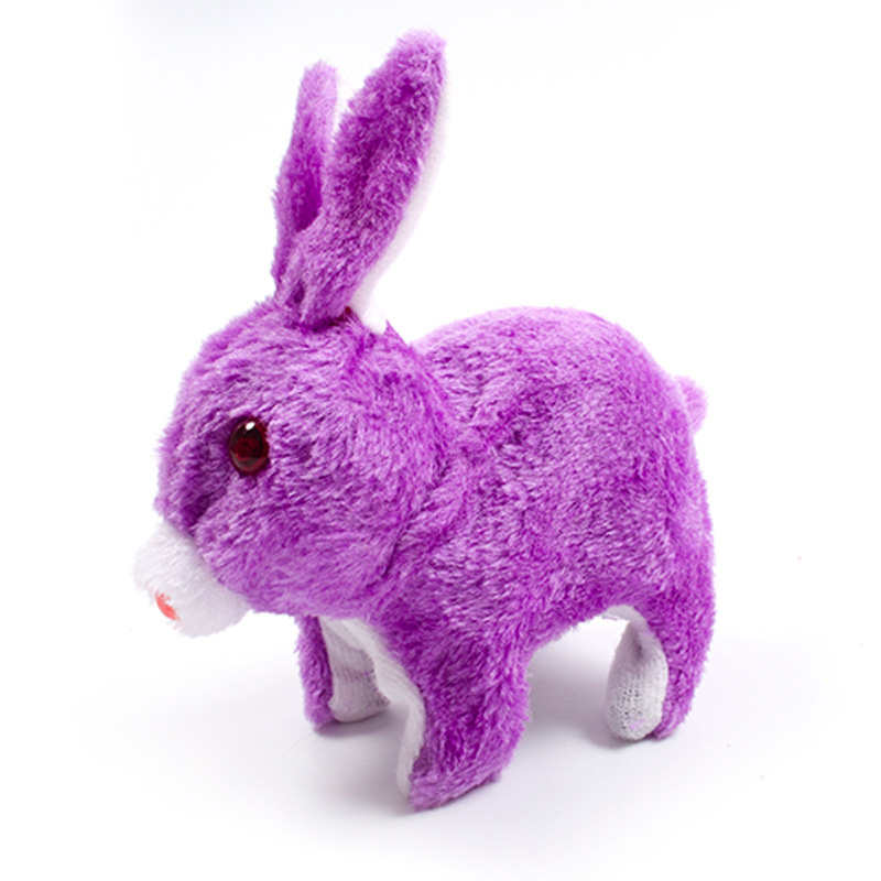 Glowing Rabbit Toy Baby Kids Cute Electric Rabbit Toys For Children Will Jump Called Simulation Bunny Toy Child Plush