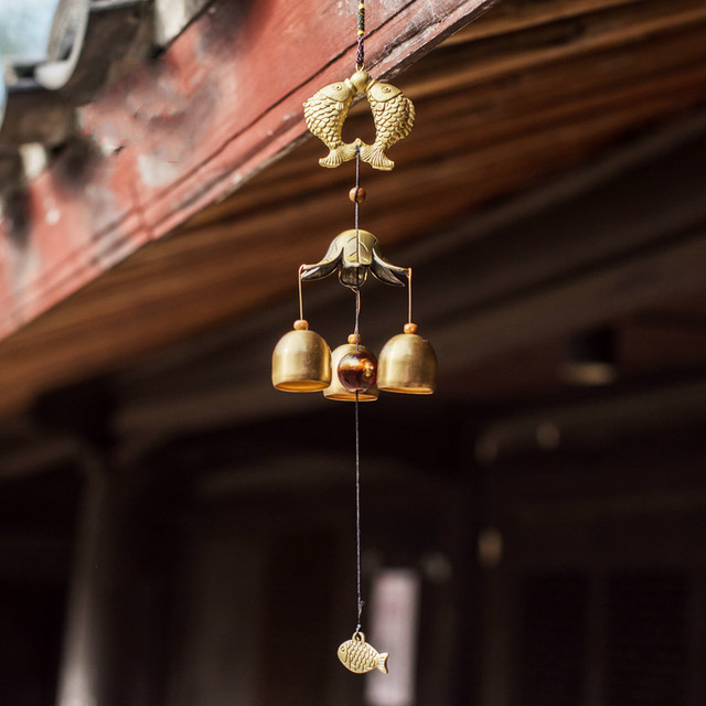 Antique Imitated Home Decor Wind Bell,  Shaped Wind Chime for Patio Door Balcony Decoration Copper doorbell classical luck gift
