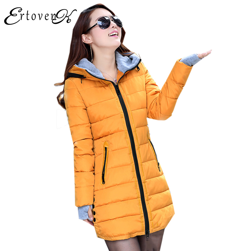 Plus size Women Cotton Coats Jacket Winter 2017 New Long Sleeve Top Slim Fashion Clothing Korean Outerwear abrigos mujer LH013 winter women jacket 2017 new fashion parkas mujer women thick padded cotton long coats female abrigos mujer plus size outwear