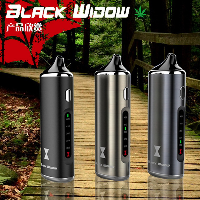 цена на 100% Original Black Widow Kingtons dry herb mod box herbal vaporizer vape pen e cig cigarette black widow Nokiva