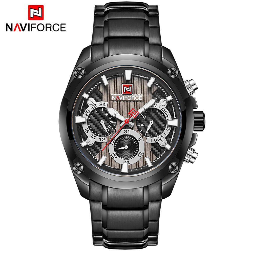 Men's Casual Sport Quartz Watch Mens Watches Top Brand Luxury Stainless Steel Strap Military Watch Wrist Male Clock image