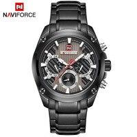 Men's Casual Sport Quartz Watch Mens Watches Top Brand Luxury Stainless Steel Strap Military Watch Wrist Male Clock
