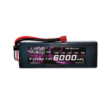 HRB Lipo Battery 2S 7.4V 6000mAh 60C XT60 T Deans TRX EC5 XT90 RC Parts Hard Case For Traxxas Airplanes Cars Boats 4x4 1/8 1/10(China)