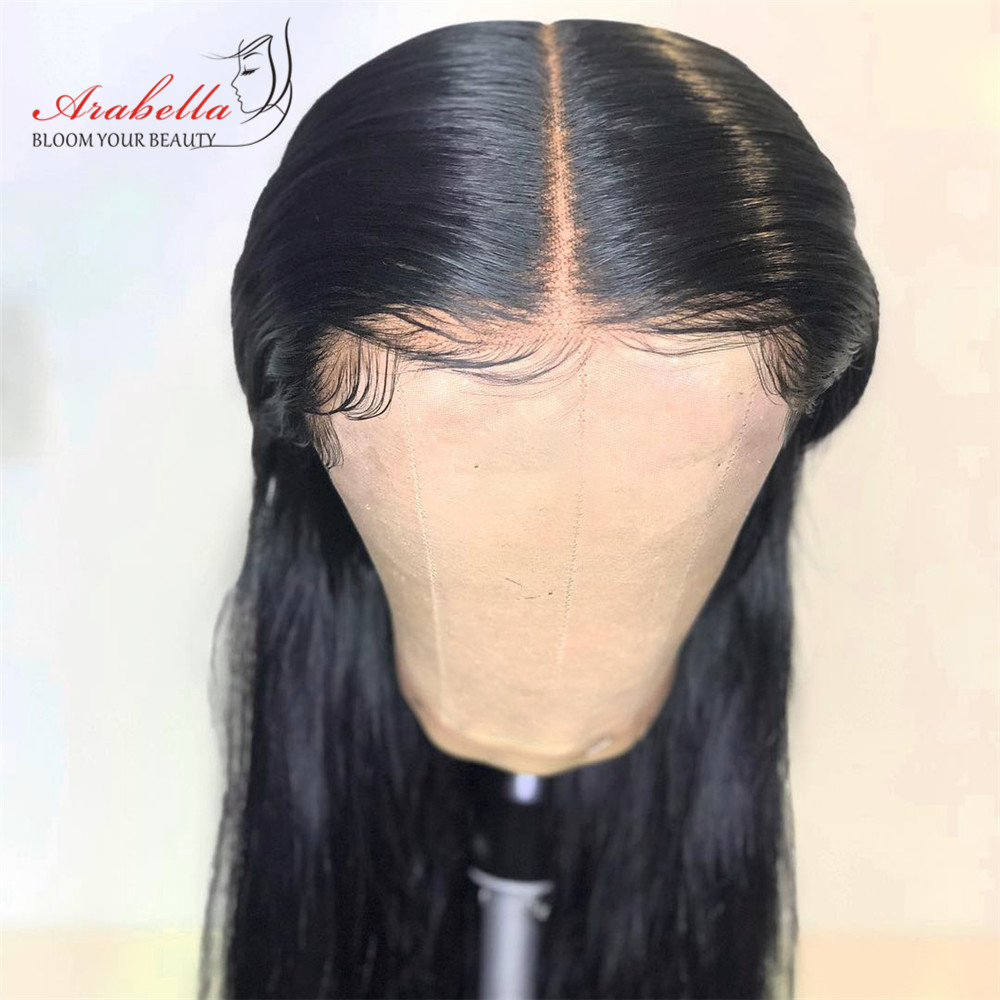 Brazilian Straight Lace Front Human Hair Wigs 360 Lace Frontal Wig 180 Density Arabella 100 Remy