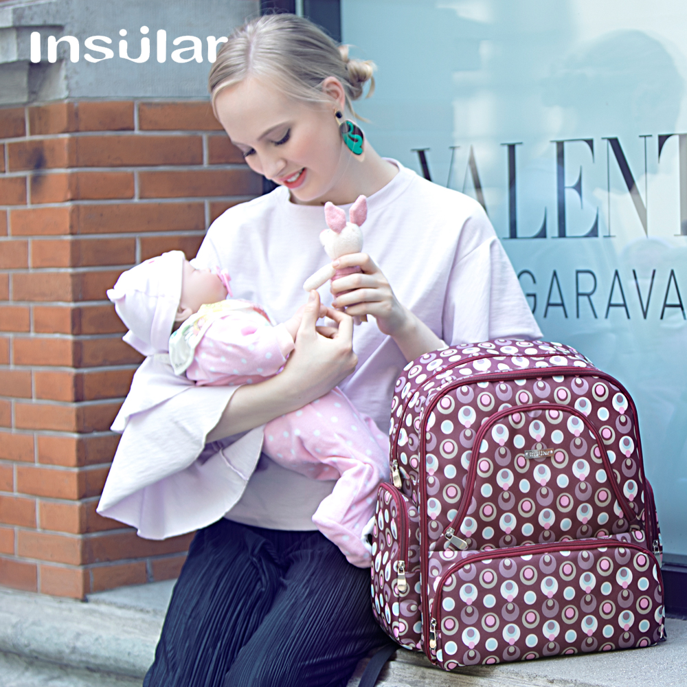 3 Color Free Shipping Multifunction Solid Nappy Diaper Bags Baby Diaper Backpack Waterproof Heat Preservation Fort High-capacity 6 colors free shipping multi function inner container hobos nappy diaper baby diaper predelivery bags backpack hanging