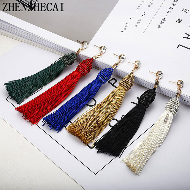 Hot fashion charm sweet tassel love Earrings for women Bohemia statement earring