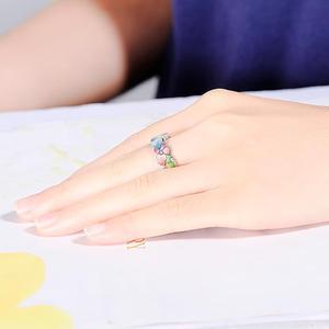 Image 5 - Santuzza anel de prata para mulher 925 prata esterlina moda flor anéis para feminino zirconia cúbica ringen festa jóias esmalte
