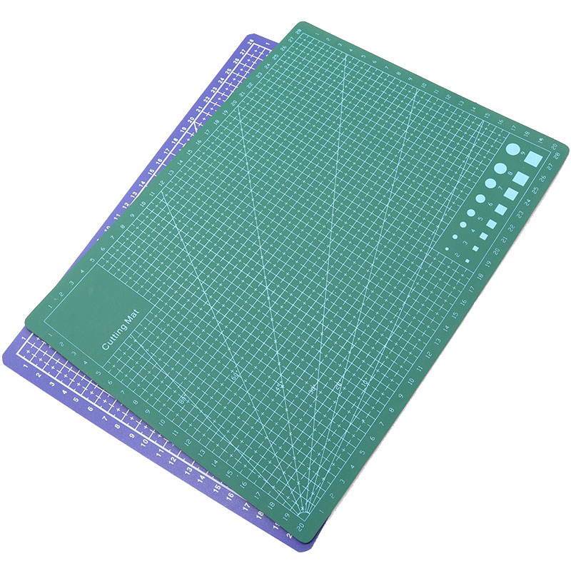 1pc Multi-Function Office Supplies Rectangular Cutting Plastic PVC Board Blue Green Metric Foot / Engineering Drawing Tools