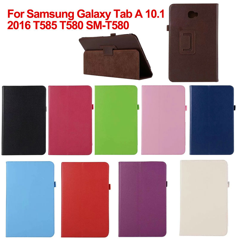 T580 PU Leather Flip case Cover For Samsung Galaxy Tab A 10.1 2016 T585 T580 SM-T580 T580N funda Tablet cases S2A14D стиральная машина lg f12b8td f12b8td