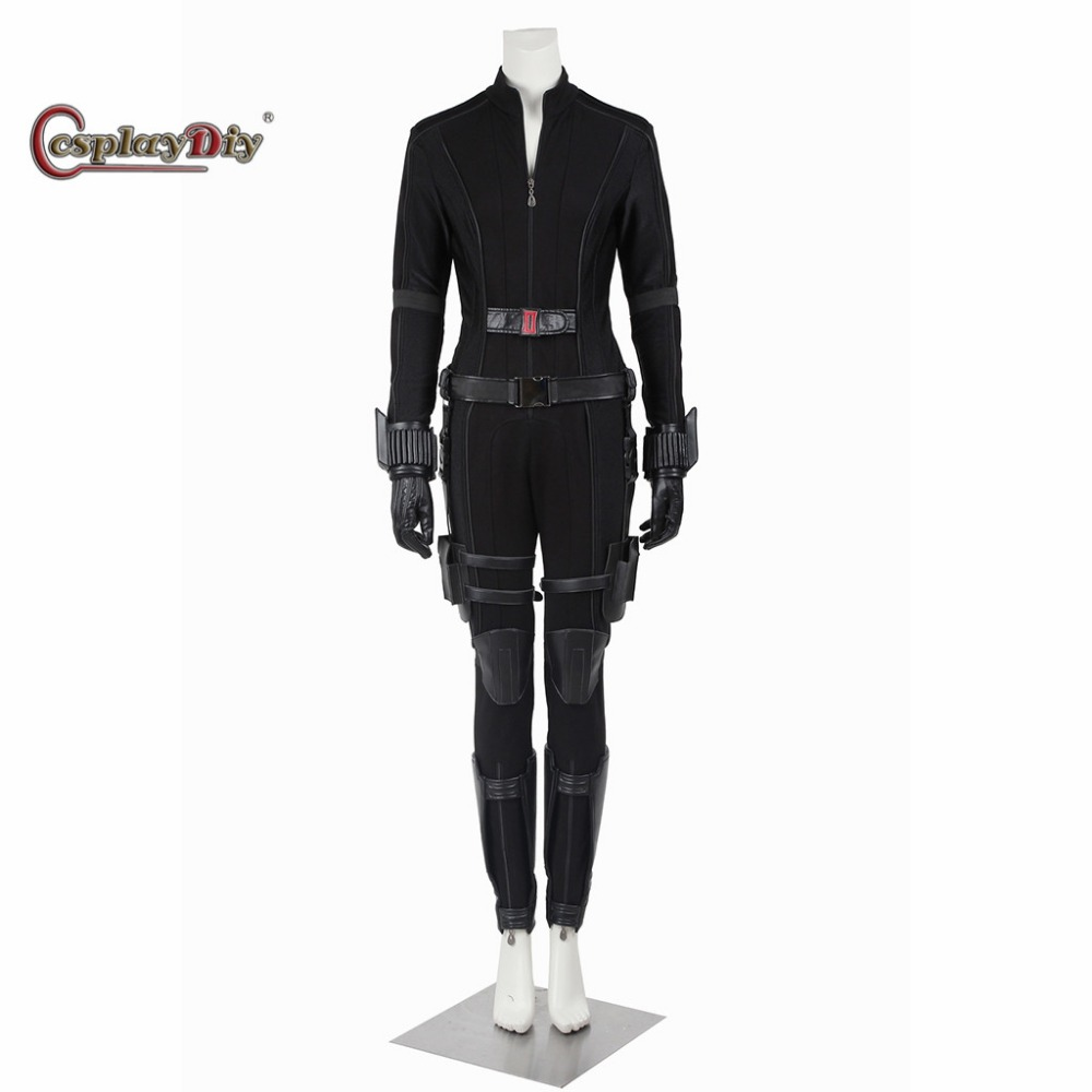 Cosplaydiy Captain America Civil War Black Widow Natasha Romanoff Costume for Adult Women Halloween Outfit Custom Made