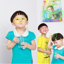 Kid Baby Fun Soft Plastic Straw Funny Glasses Flexible Drinking Toys Party Joke Tube Tools Kids Baby toys