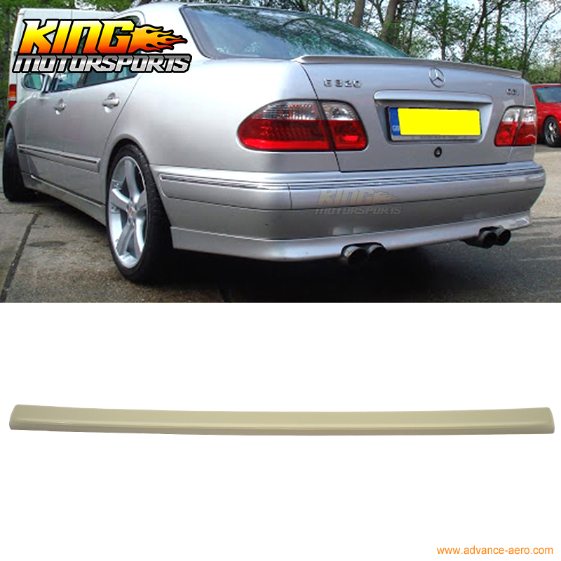ФОТО For 95-01 Benz E-Class W210 Abt Style Unpainted ABS Trunk Spoiler