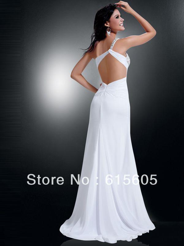 Aliexpress.com : Buy Fashion Flowing Chiffon Evening Dresses Sexy ...