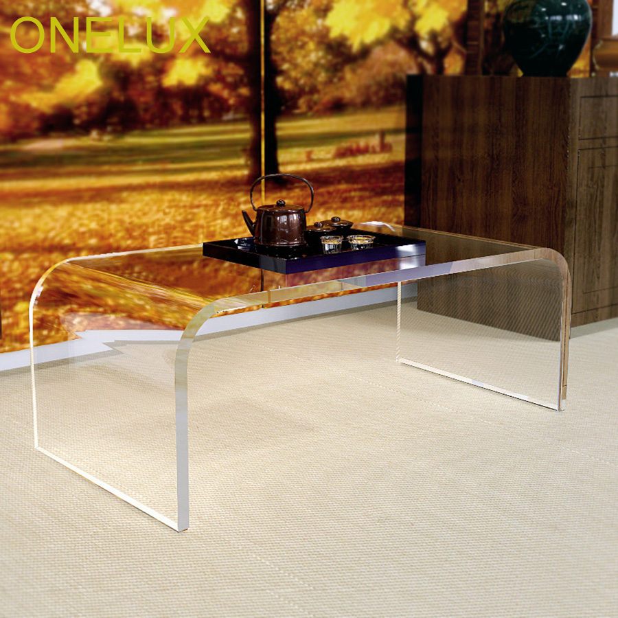 Waterfall Acrylic U Table,Lucite Coffee \/ Tea \/ Occasional \/ Living room Tables 2 Size Options