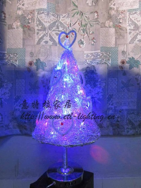 Free Shipping Modern Decorative Handmade aluminum LED Table Lighting Like Christmas Tree ETL5395