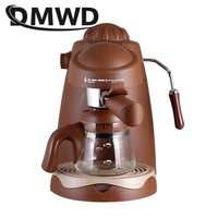 DMWD High Pressure Steam Fancy Italian Coffee Machine Mocha Latte Milk Frother Foamer Bubble Cappuccino Espresso Coffee Maker EU