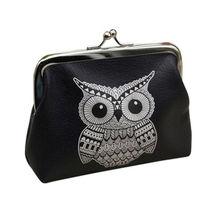 Nette frauen Red Fashion Eule Brieftasche Kartenhalter Geldbörse Kupplung Handtasche Tasche