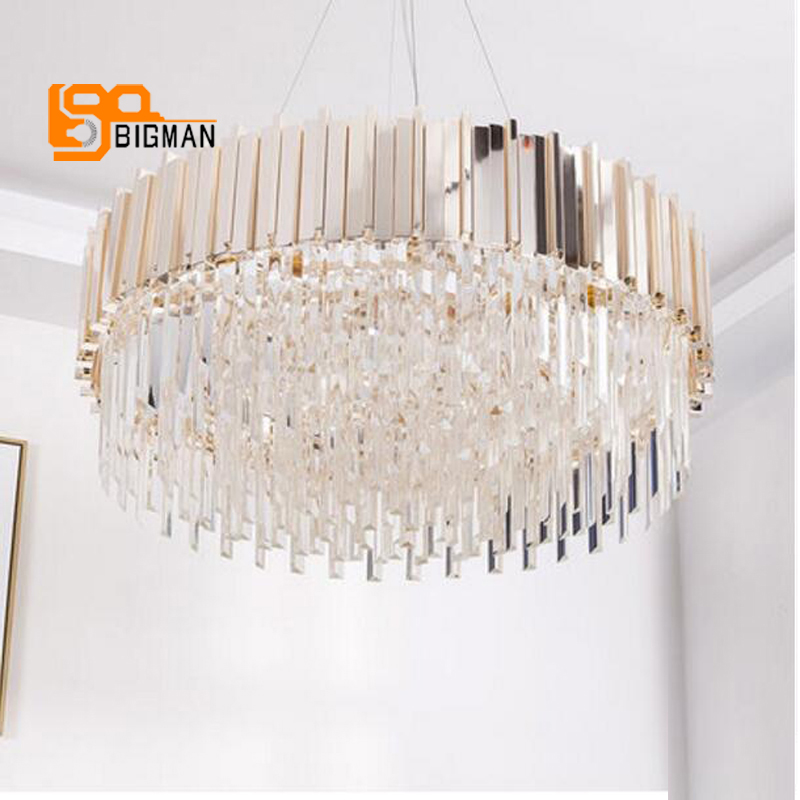 все цены на new arrival luxury crystal chandelier modern lighting gold dinning room living room LED light fixtures