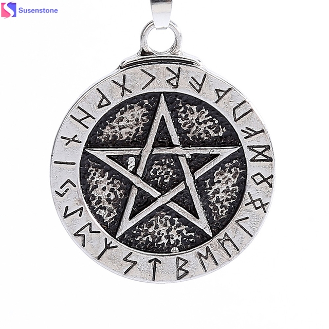 1pcs norse viking pendant necklace large rune pentacle pendant 1pcs norse viking pendant necklace large rune pentacle pendant pentagram jewelry wiccan necklace norse pagan runes aloadofball Gallery