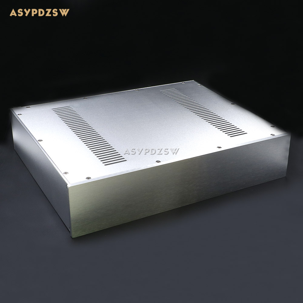 WA52 Aluminum enclosure Power amplifier chassis Amplifier case/box 340*430*92mm 3206 amplifier aluminum rounded chassis preamplifier dac amp case decoder tube amp enclosure box 320 76 250mm