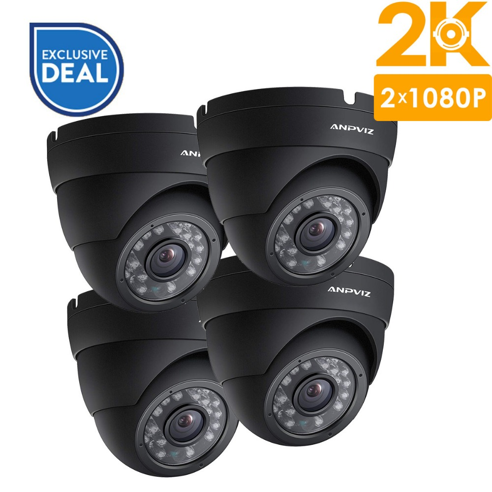 Anpviz 4Pcs 2K PoE IP Camera 4MP Security Outdoor Video Surveillance Turret Camera Dome CCTV Night Vision Home Camera OnvifAnpviz 4Pcs 2K PoE IP Camera 4MP Security Outdoor Video Surveillance Turret Camera Dome CCTV Night Vision Home Camera Onvif
