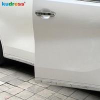 For Toyota Alphard Vellfire 2016 2018 Chrome Car Crash Barriers Article Bull Bars Side Door Body Moulding Protect Bumper Strips