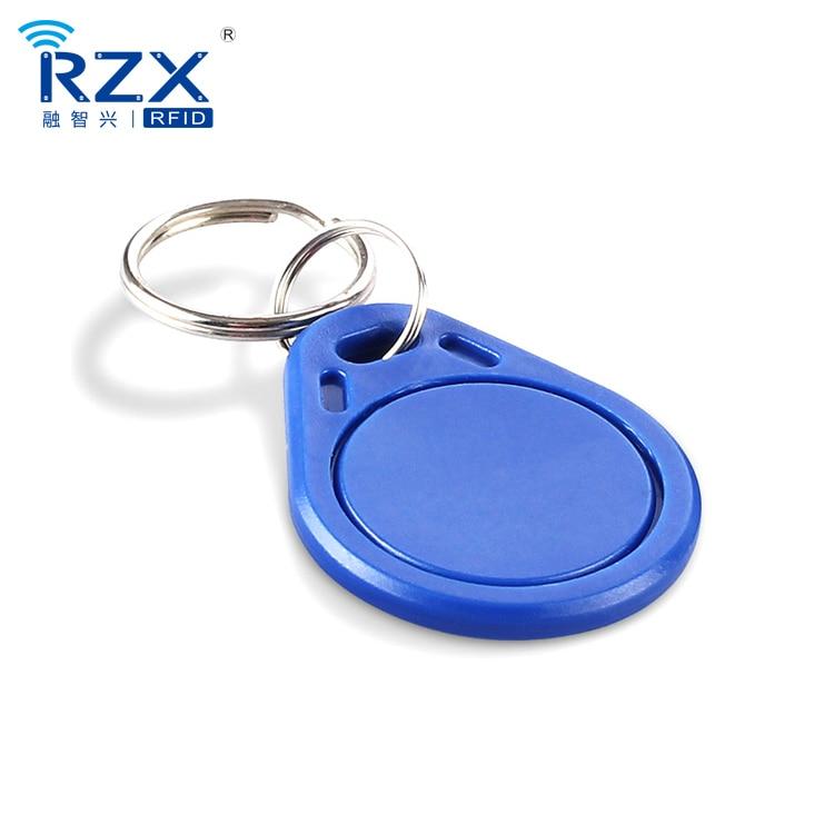 free shipping 20pcs Black& white ABS key fob MIFARE Classic 1K proximity rfid fob 13.56Mhz smart keyfob