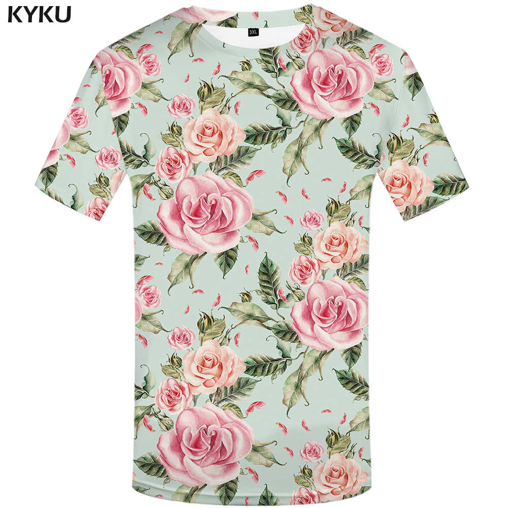 Мужская футболка с рисунком KYKU, летняя футболка с 3D-принтом космоса, в хип-хоп стиле