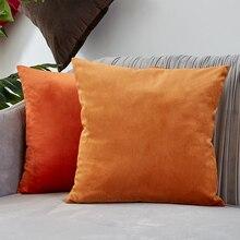 Cojín 45*45 funda de cojín para sala de estar sofá funda de almohada decoración naranja decoración de terciopelo hogar Decoración Kussenhoes hogar