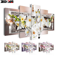 Zhui Star 5d Diy Diamond Embroidery Orchid Flower Diamond Painting Cross Stitch Full Rhinestone Mosaic Multi