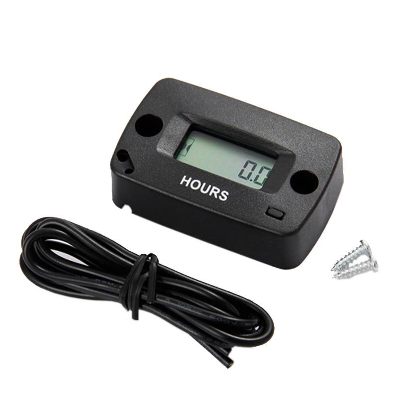 Réarmable Numérique LCD Inductif Compteur Horaire Utilisé Pour N'importe Quel Moteur À Essence RL-HM018 Livraison Gratuite