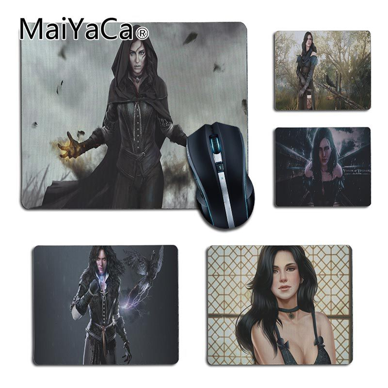 MaiYaCa Vintage Cool Witcher 3 yennefer small Gaming MousePads Size for 25X29cm 18x22cm Gaming Mousepads Boy Gift Pad
