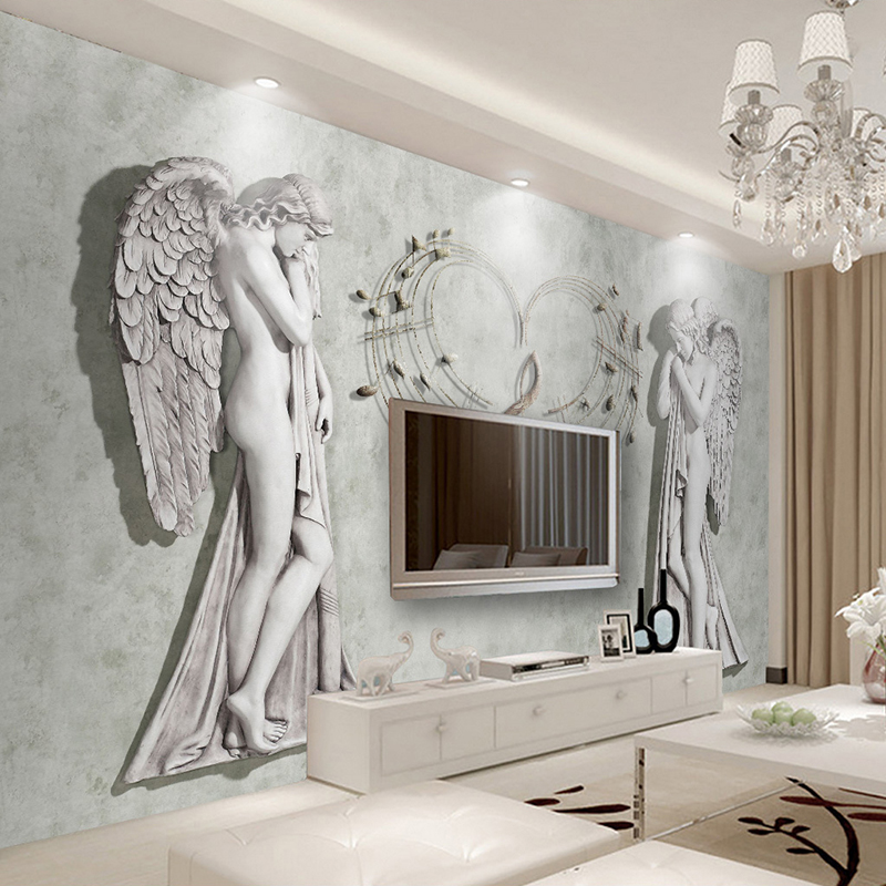 Custom 3D Wall Murals Wallpaper Papel De Parede Angel Waterproof Canvas Painting Living Room Sofa TV Background Decor Sticker