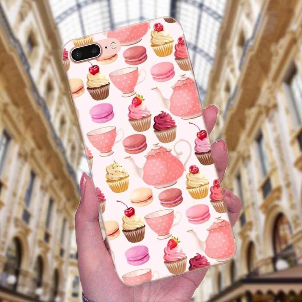 ТПУ чехол для Xiaomi Redmi Note 2 3 3S 4 4A 4X5 5A 6 6A Pro Plus вкусная чашка торт пончики десерт сердце