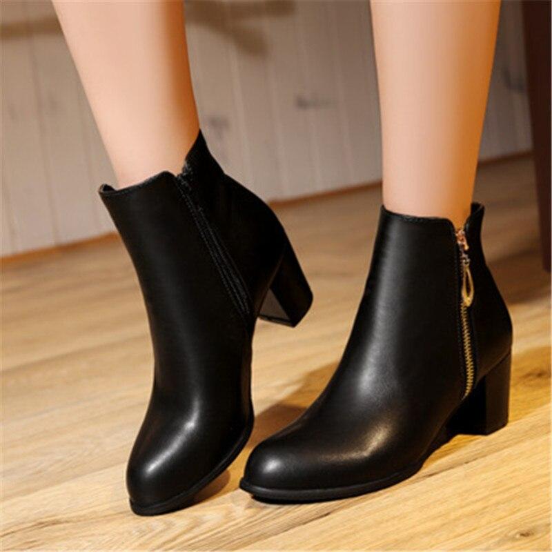 Plus Size 34-45 New შემოდგომა ზამთარი - ქალის ფეხსაცმელი - ფოტო 3