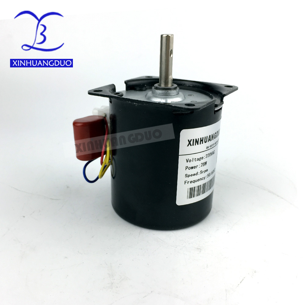 220 V ac motor 28w 2 5RPM 100RPM Low Noise Gearbox Electric Motor 50HZ 60HZ High