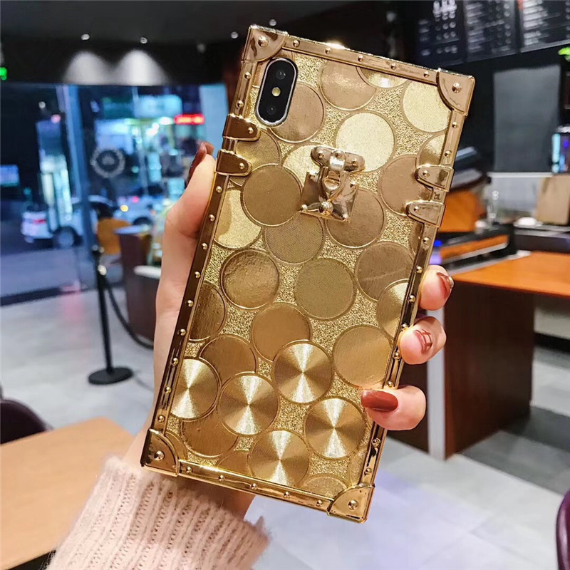 HTB17 TYaOLxK1Rjy0Ffq6zYdVXa5 - Luxury Square Gold glitter case for Samsung S10 Plus S9 S8 3D high quality soft cover for iphone 11 Pro X XR XS MAX 6 7 8 coque