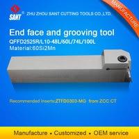 تشوتشو سانت أدوات القطع باستخدام الحاسب الآلي سطح الحز أداة حامل QFFD2525L10 48L مع إدراج ZTFD0303 MG ذات نوعية جيدة|grooving tool holder|cut holdercutting tool holder -