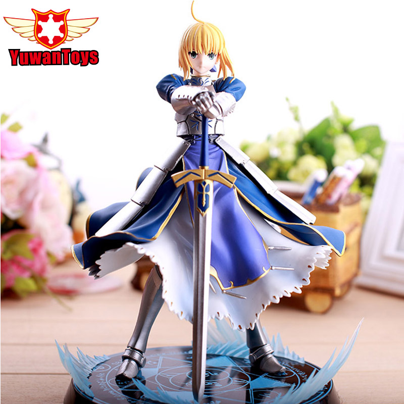 New Anime Fate Stay Night Altria Pendragon UBW Saber PVC Action Figures Collectible Fate/Stay Night Action Figures Model Toys