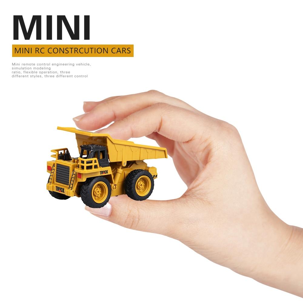 Remote Control Toy Vehicle 1:64 4CH RC Mini Dump Truck Excavator Crane Truck