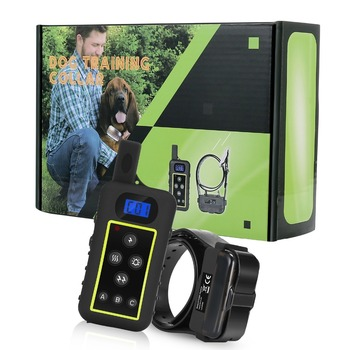 2000M Dog Trainer Waterproof Rechargeable Remote Pet Dog Training Collar Electric Shock Control collar with led bluelight