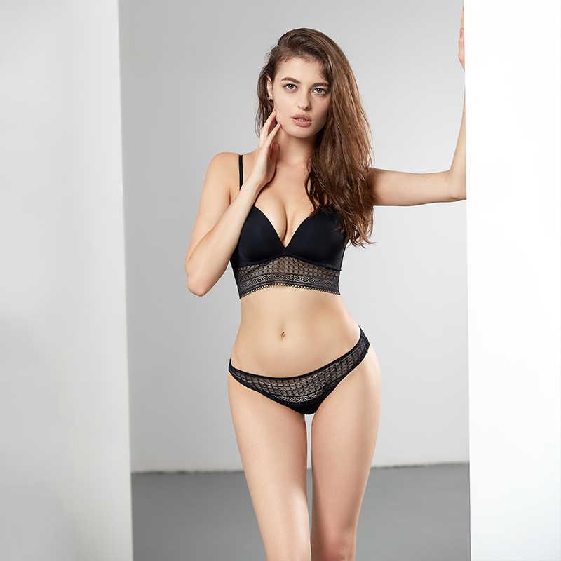 b3cd87940ca CINOON Sexy Lace bra set push up brassier women underwear mousse lingerie set  solid color wholesale