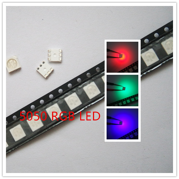 Diodes Nice 50pcs Smd5050 Led Smd 5050 Rgb Chip Led Plcc-6 Tricolor Red Green Blue Led Light Emitting Diode Lamp Smt Beads Orders Are Welcome. Back To Search Resultselectronic Components & Supplies